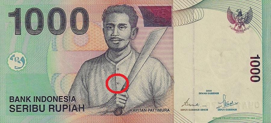 Misteri emoticon smile pada uang 1.000 rupiah Pattimura
