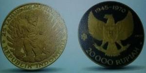 Uang logam Indonesia yang mengandung emas