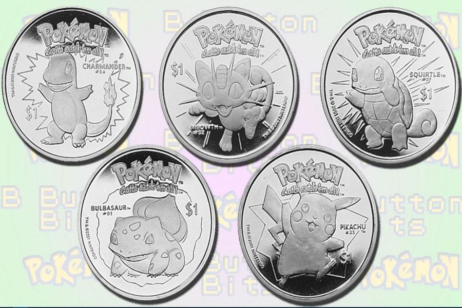 Mata uang bergambar Pokemon dari Negara Niue