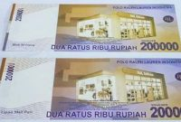 Uang baru Indonesia pecahan 200 ribu rupiah