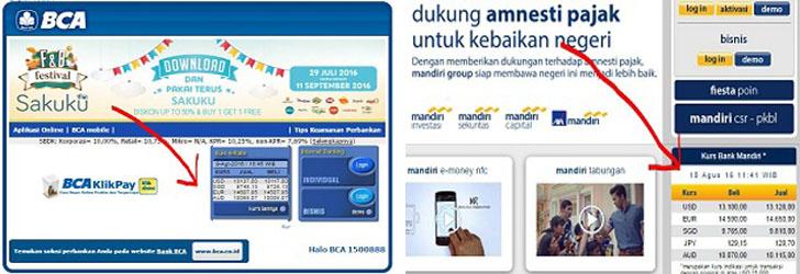 cara cek kurs mata uang asing hari ini via online, gampang, dan cepat via bca, bni, mandiri