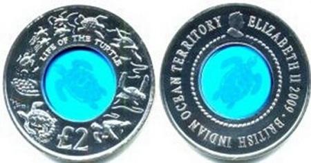 uang koin mahal unik ada kristal biru