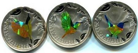 uang warna-warni bergambar burung penghisap madu dari tongo