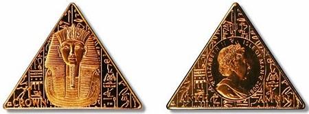uang unik dari mesir bentuk piramida