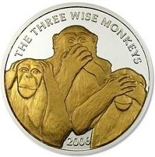 uang logam paling unik di dunia bergambar simpanse