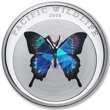 uang logam paling unik di dunia dari palau bergambar kupu-kupu