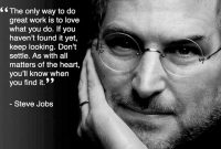 Kata-kata bijak Steve Job dalam bahasa Inggris dan Indonesia
