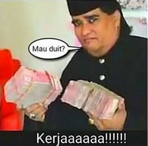 Meme lucu Dimas Kanjeng Taat Pribadi sang dukun pengganda uang yang bikin tertawa ngakak