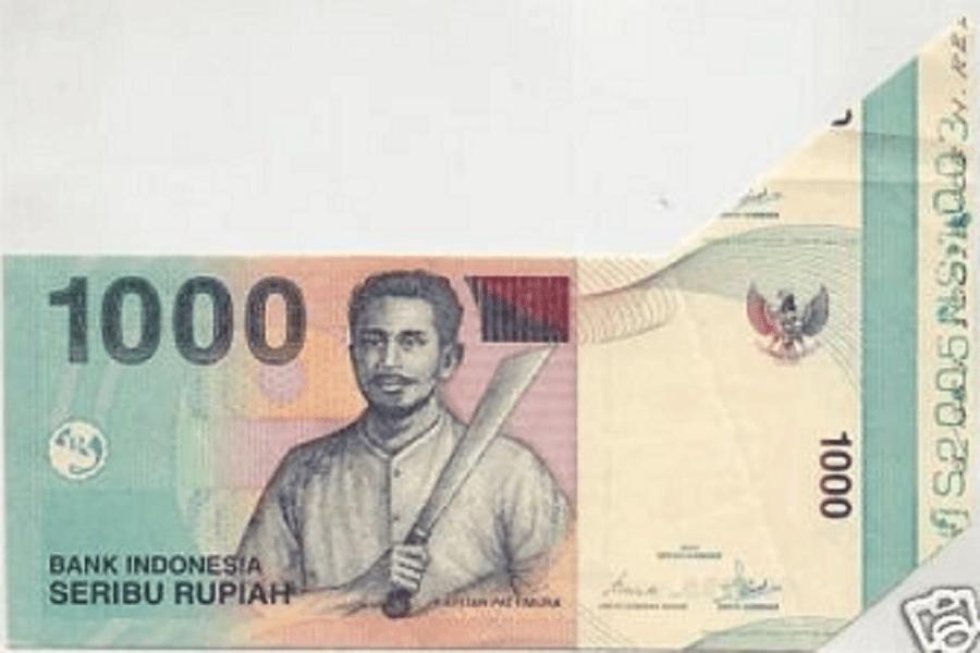 Gambar uang salah cetak, miscut, dan misprint