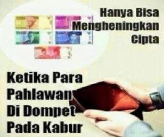 Gambar meme lucu lagi bokek gak punya duit