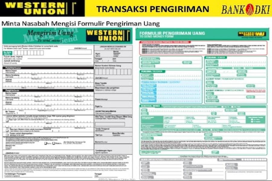 Pengambilan uang kiriman Western Union di bank