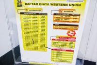 Tarif biaya kirim uang Western Union