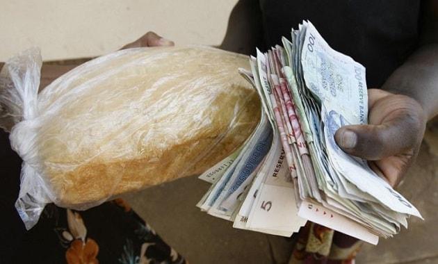 Harga roti di Zimbabwe