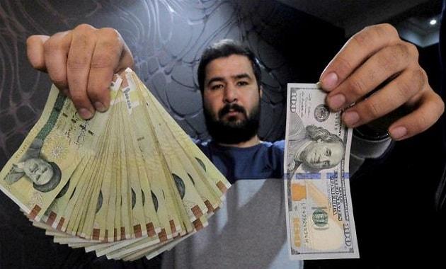 Rial Iran versus dolar Amerika Serikat