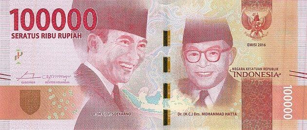 Uang Indonesia seratus ribu rupiah